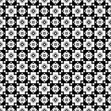 与抽象图的无缝的黑白装饰背景 库存图片