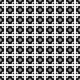与抽象图的无缝的黑白装饰背景 免版税库存图片