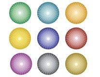 与抽象圈子模式的球 免版税库存图片