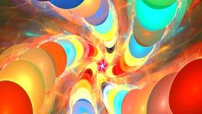 与抽象明亮的螺旋的分数维背景 高详细的圈 向量例证