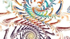 与抽象明亮的螺旋的分数维背景 高详细的圈 股票录像