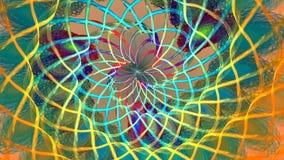 与抽象明亮的螺旋的分数维背景 高详细的圈 影视素材