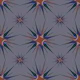 与抽象星的几何无缝的传染媒介样式 免版税库存照片