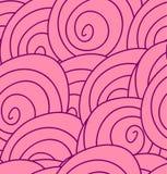与抽象桃红色玫瑰的无缝的花纹花样。 库存照片