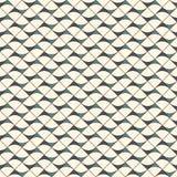 与抽象波浪的无缝的表面样式 与几何形式的当代印刷品 与三角的现代装饰品 向量例证
