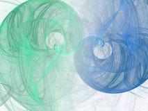 与抽象漩涡的分数维背景 皇族释放例证