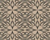 与抽象的传染媒介无缝的样式 抽象棕色玫瑰 向量例证