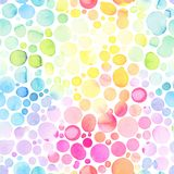 与抽象碗的无缝的样式,彩虹颜色 库存图片