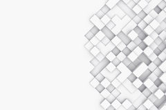 与抽象立方体的背景 3d例证 免版税库存照片