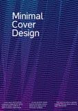 与抽象线的盖子设计 免版税库存照片