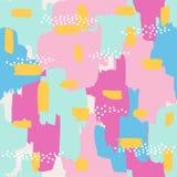 与抽象绘画的技巧装饰品的无缝的样式 库存图片