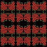与抽象花楸浆果样式的背景 免版税库存照片