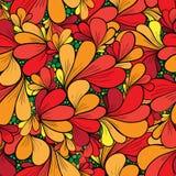 与抽象花的无缝的花卉背景 库存图片