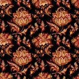 与抽象花的背景在东方样式 图库摄影
