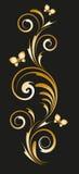 与抽象花饰的金子小插图 免版税库存照片