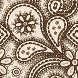 与抽象装饰品的无缝的背景 免版税库存图片