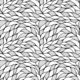 与抽象通知的无缝的模式 波浪的背景 传染媒介波浪纹理 向量例证