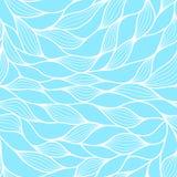 与抽象通知的无缝的模式 波浪蓝色天蓝色的背景 传染媒介波浪纹理 向量例证