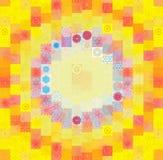 与抽象马赛克的颜色背景 库存照片