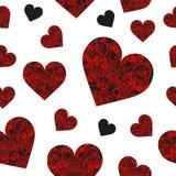 与抽象steampunk心脏的无缝的样式 Steampunk样式 库存照片