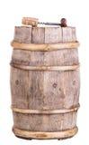 与拔塞螺旋的木葡萄酒葡萄酒桶 免版税库存照片