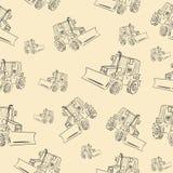 与拖拉机2的无缝的纹理 免版税库存照片