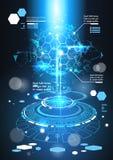 与拷贝空间技术摘要背景图和图表的Infographic元素未来派模板横幅 免版税库存照片