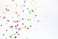 与拷贝空间的五颜六色的党五彩纸屑 库存图片