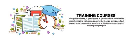 与拷贝空间的培训班企业教育概念水平的横幅 库存照片