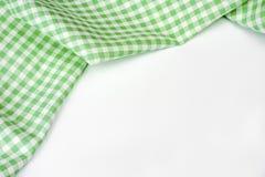与拷贝空间的绿色经典方格的桌布 图库摄影