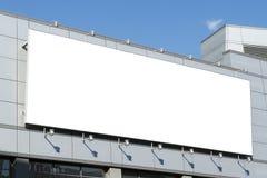 与拷贝空间的一个大空白的都市广告牌 库存照片
