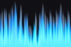与拷贝空间的信号波形蓝色光 免版税库存图片