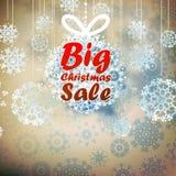 与拷贝空间的圣诞节大销售模板。 免版税库存照片