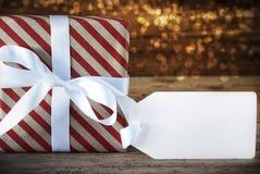 与拷贝空间的大气圣诞节礼物 免版税库存图片