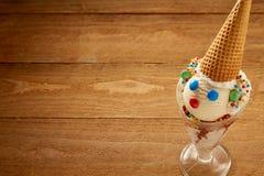 与拷贝空间的小丑冰淇凌 库存图片