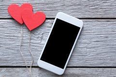 与拷贝空间的情人节网上购物背景 图库摄影