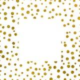 与拷贝空间的框架金黄纹理 免版税库存图片