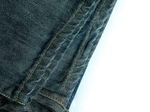 与拷贝空间的牛仔裤背景 库存图片