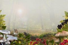 与拷贝空间的秋天背景 免版税库存图片