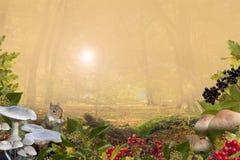 与拷贝空间的秋天背景 免版税库存照片