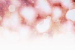 与拷贝空间的红色假日光 免版税库存图片