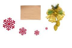 与拷贝空间的老羊皮纸在圣诞节 库存图片