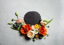 与拷贝空间的花卉布局 免版税图库摄影