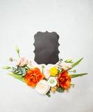 与拷贝空间的花卉布局 库存图片