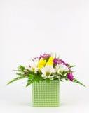 与拷贝空间的花的布置 库存图片