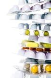 与拷贝空间的药物 库存图片