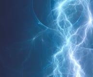 蓝色闪电 库存图片