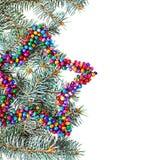 与拷贝空间的被隔绝的多彩多姿的圣诞节星背景 免版税库存照片
