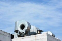 与拷贝空间的通风系统 HVAC当热化通风的空调 AC加热器 行业空调 库存图片
