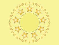 与拷贝空间的金黄星背景 库存图片